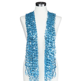 Sequined Scarf - Aqua