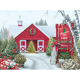 Christmas Tree Farm 500 Piece Jigsaw Puzzle