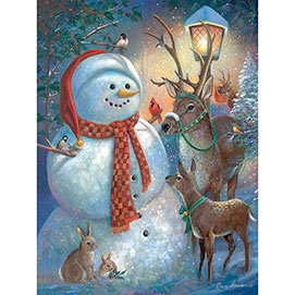 Snowman Welcome 300 Large Piece Jigsaw Puzzle