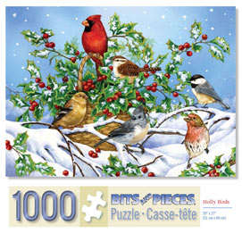 Holly Birds 1000 Piece Jigsaw Puzzle