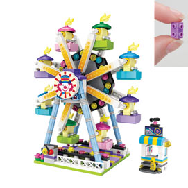 Ferris Wheel with Ticket Booth 609 Piece Puzzle