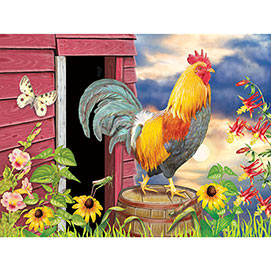 Barnyard Morning 500 Piece Jigsaw Puzzle