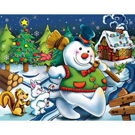Frosty the Snowman 100 Large Piece Jigsaw Puzzle