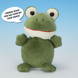 Talking Frog Plush Toy