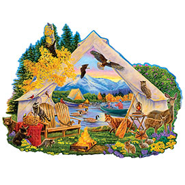 Campfire Memories 300 Large Piece Shaped Jigsaw Puzzle