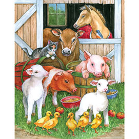 Barnyard Buddies 100 Large Piece Jigsaw Puzzle