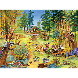Forest Clearing 300 Large Piece Jigsaw Puzzle