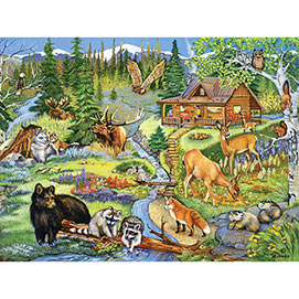 Forest Lodge 500 Piece Jigsaw Puzzle