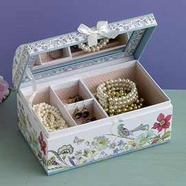 Floral Jewellery Box