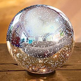 Spectacular Illuminated Mercury Glass Ball