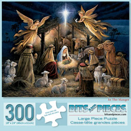 In the Manger 300 Large Piece Jigsaw Puzzle