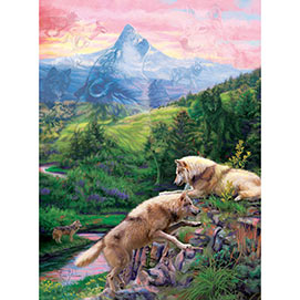 Hidden Wolves Valley 300 Large Piece Jigsaw Puzzle