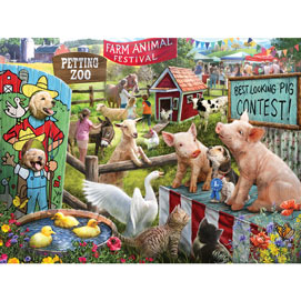 Farm Animal Festival 300 Large Piece Jigsaw Puzzle