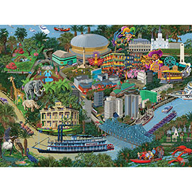 New Orleans 300 Large Piece Jigsaw Puzzle