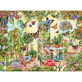 Playing in the Butterfly House 300 Large Piece Jigsaw Puzzle