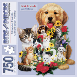 Best Friends 750 Piece Shaped Jigsaw Puzzle