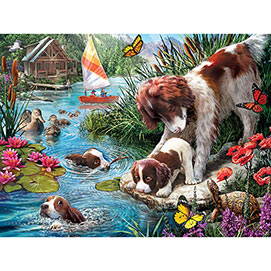 Swimming Lessons 500 Piece Jigsaw Puzzle