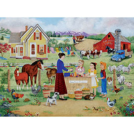 Farm Fresh Produce 300 Large Piece Jigsaw Puzzle