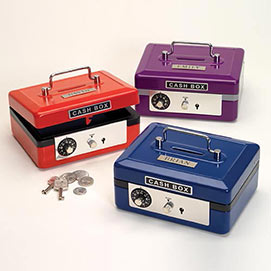 Personalized Cash Box - Red