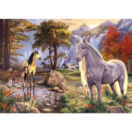 Hidden Image Horses 1000 Piece Jigsaw Puzzle
