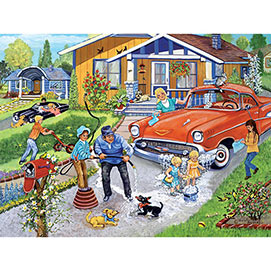 Family Car Wash 500 Piece Jigsaw Puzzle