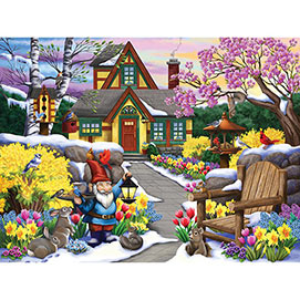 Winter Garden Friends 300 Large Piece Jigsaw Puzzle