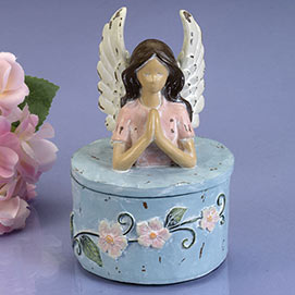 Praying Angel Trinket Box