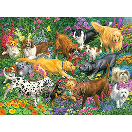 Playful Dogs 1000 Piece Jigsaw Puzzle