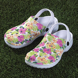 Blooming Garden Clogs
