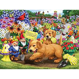 Puppy Garden Helpers 300 Large Piece Jigsaw Puzzle