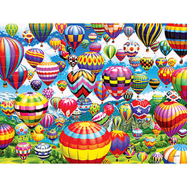 Colorful Balloons In The Sky 1000 Piece Jigsaw Puzzle