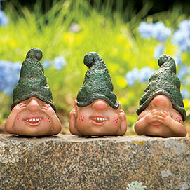 Three Cute Little Gnomes