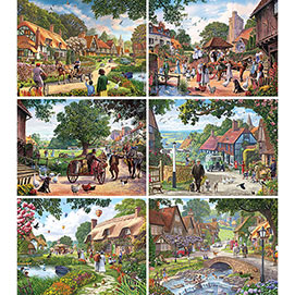 Set of 6: Steve Crisp 300 Large Piece Jigsaw Puzzles
