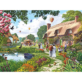 Pond Cottage 300 Large Piece Jigsaw Puzzle