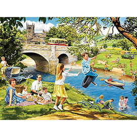 Riverbank Picnic 300 Large Piece Jigsaw Puzzle