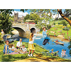 Riverbank Picnic 1000 Piece Jigsaw Puzzle