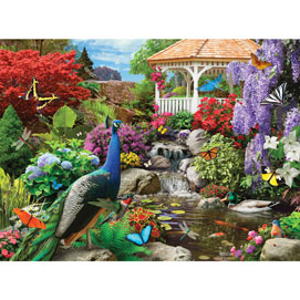 Peacock Paradise 1000 Piece Jigsaw Puzzle