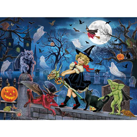 Littlest Witch's Halloween Party 1000 Piece Jigsaw Puzzle