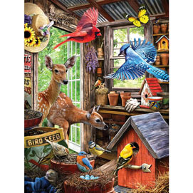 Nesting In The Shed 300 Large Piece Jigsaw Puzzle