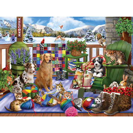 Porch Pets Fun 300 Large Piece Jigsaw Puzzle