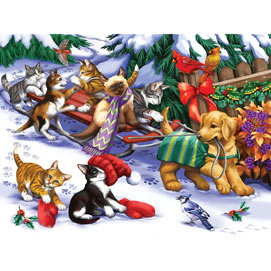 Let's Go Sledding 300 Large Piece Jigsaw Puzzle