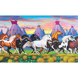 Indian Ponies 300 Large Piece Jigsaw Puzzle