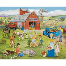 Ames Farm 300 Large Piece Jigsaw Puzzle