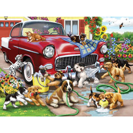 Car Wash Chaos 300 Large Piece Jigsaw Puzzle