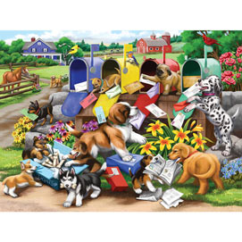Mischief At The Mailbox 300 Large Piece Jigsaw Puzzle