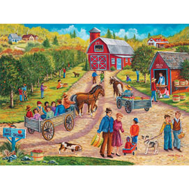 Vic's Apple Orchard 300 Large Piece Jigsaw Puzzle