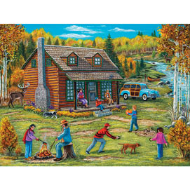 Autumn At The Cabin 500 Piece Jigsaw Puzzle