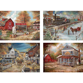 Set of 4: Ruane Manning 300 Large Piece Jigsaw Puzzles