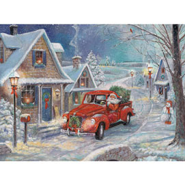 Santa's Snowy Delivery 1000 Jigsaw Puzzle