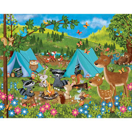 Woodland Campers 100 Large Piece Jigsaw Puzzle